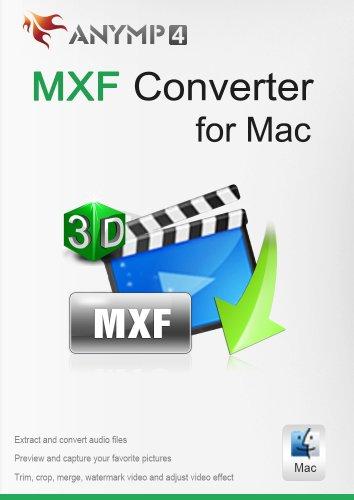 AnyMP4 MXF Converter für Mac Lifetime License - MXF in MP4, MOV, AVI, MP3 und andere Video/Audioformate auf Mac umwandeln [Download] -