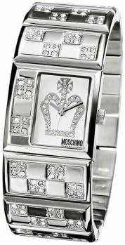 Moschino MW0024 - Reloj analógico de cuarzo unisex con correa de caucho, color multicolor