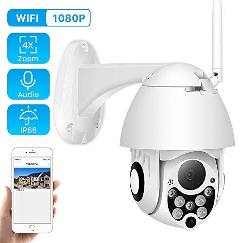 Ip Kamera 1080p 2mp Wireless WiFi Speed Dome Ptz Outdoor Ip66 Onvif Two Way Audio Ir CCTV Security Surveillance Camara Exterior 1080P Keine SD-Karte