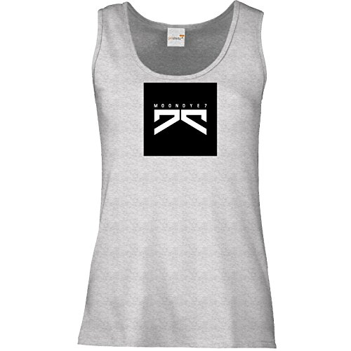 getshirts - Moondye7 official Merchandise - Tank Top Damen - Logo 1 Graumeliert