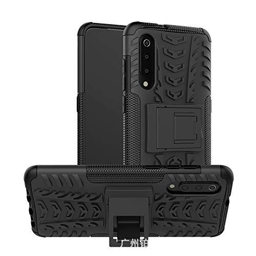 DoubTech Funda Xiaomi Mi 9 Carcasa Protección híbrida Armadura Cubrir Kickstand Plegable PC TPU Suave Lucha Libre Antideslizante Esencial al Aire Libre Escabroso Protector Cover