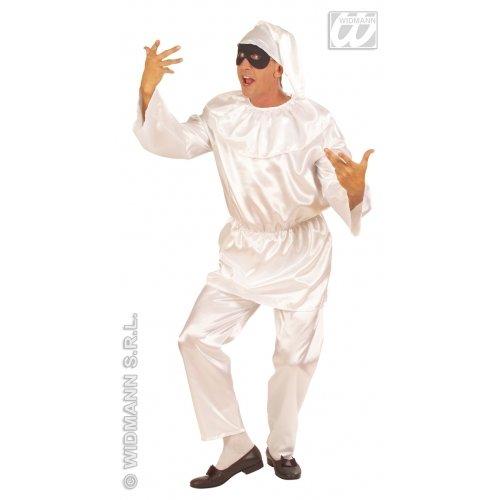 Kostüm Pulcinella (M Herren Pulcinella Kostüm für Clown Circus Frankreich French Mime Fancy Kleid Stecker UK)