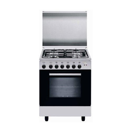 GLEM GAS Cucina Elettrica A66MI 4 Fuochi a Gas Forno Elettrico Multifunzione Classe A Colore Inox