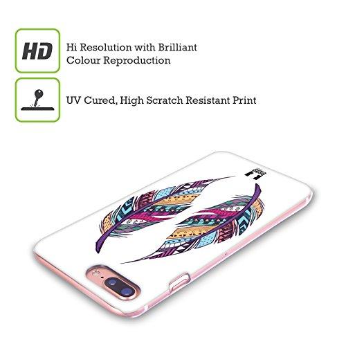 Head Case Designs Piume Illustrazioni Azteche Cover Retro Rigida per Apple iPhone X Piume