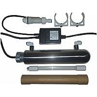 Eco-Pro+ Esterilizador de agua UV. 10W UVC. Con interruptor de flujo inteligente. INOX. Medidor de TDS y temporizador digital incluido