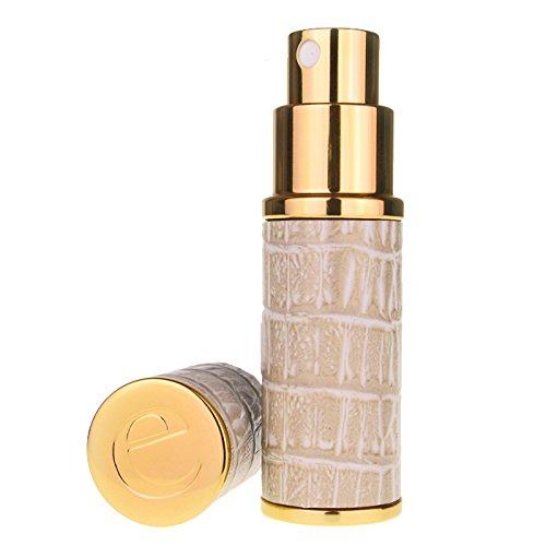 Der Essential Zerstäuber CO. Beige & Gold Faux Croc 10ml nachfüllbar Parfüm Travel Zerstäuber. Inklusive Einfülltrichter und Geschenkbox -
