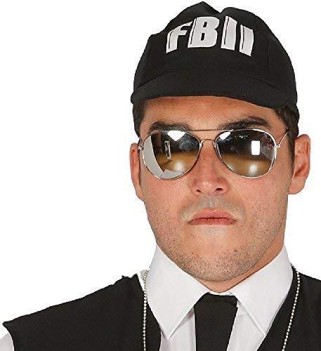 Fancy Me Herren Damen Gespiegelt Aviator FBI Fluglinienpilot Kostüm Kleid Outfit Zubehör Brillen