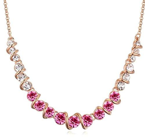 Daesar Schmuck Damenkette Vergoldet Runde Halo Halskette Zirkonia Strass Anhänger Halskette für (Und Engel Flügel Erwachsene Halo)