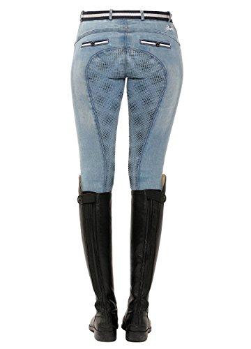 SPOOKS Reithose für Damen Mädchen Kinder, Voll-Grip-Besatz Reithosen Leggings Turnierreithose - bequem & stylisch Ricarda Full Grip Jeans - Light Denim M
