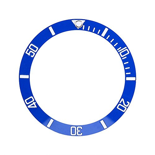 Dilwe 4 Farben Keramik Uhr Armbanduhr Lünette Einsatz Schleife ersatzteile(Blau)