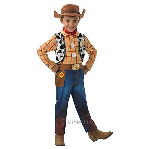 Woody Deluxe - Toy Story - Kinder-Kostüm - Medium - 116cm