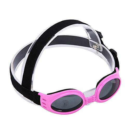 Mootea Dog Goggles Eye Wear - Kleine Hundesonnenbrille Wasserdicht Winddicht UV-Schutz für Doggy Puppy Cat(Rosa)