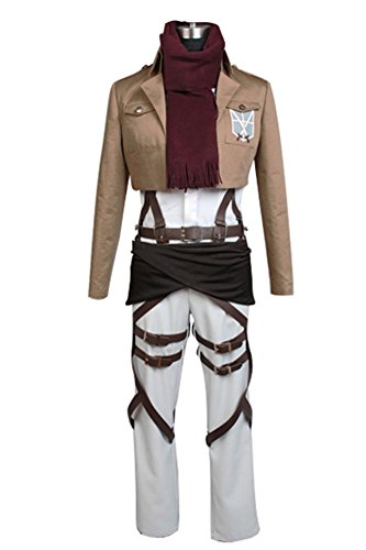 Shingeki no Kyojin Attack on Titan Mikasa Ackerman Cosplay Kostüm L
