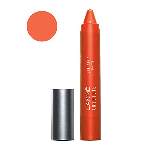 Lakme Absolute Lip Pout Matte Lip Color, Tangerine Touch, 3.7g