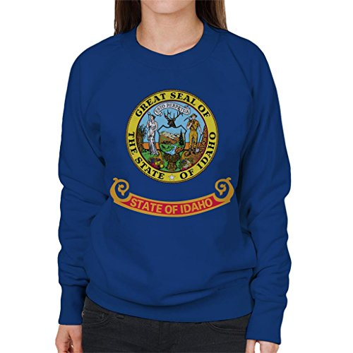 Coto7 Great Seal of The State of Idaho Flag Women's Sweatshirt - Idaho State Seal