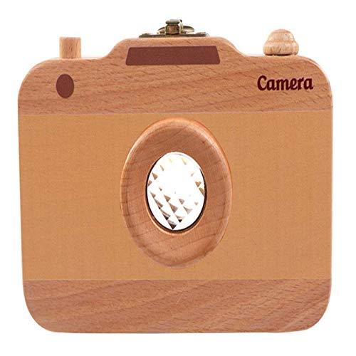 Storage Boxes & Bins - Wooden Children 39 S Camera Deciduous Teeth Storage Box Baby Fetal Hair Collection Commemorative - Bins Boxes Storage Organizers