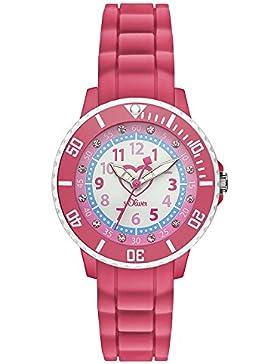 s.Oliver Mädchen-Armbanduhr Analog Quarz Silikon SO-3107-PQ