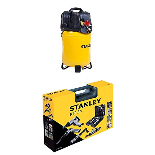 STANLEY Compressor D200/10/24V + Airtoolkit 34 pieces