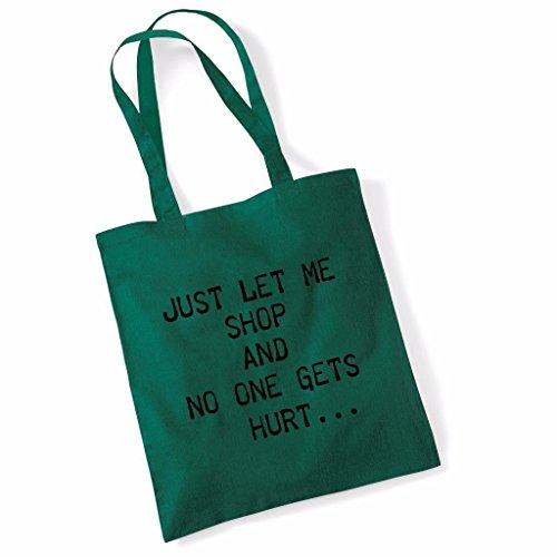 Tote bag pour femme Just Let Me Shop imprimé sac épaule sacs en toile