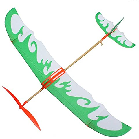 Powered Glider - TOOGOO(R)DIY Kids Early Education Toy Rubber Band Powered Glider Plane Assemble
