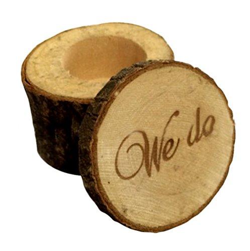 fablcrew Holz Ring Box Wir Shabby-Ring Aufbewahrung Fall tun Chic Rustikal Hochzeit Ring der Box für Jahrestag Geschenke