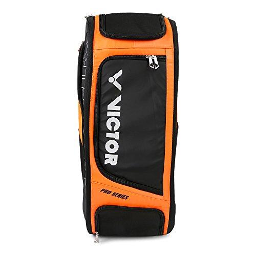Victor BR-7007 Badminton Kit Bag, Rucksack in 2 Different Color (3Pcs Racket Storage Space) (Orange)