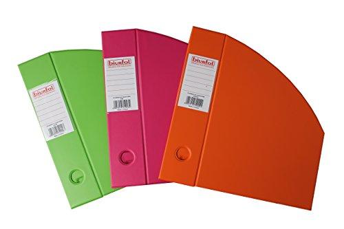 BIURFOL A-KSE-35-00 Magazine Boxes New Colours, 70 mm, 3 Stück, rosa/grass/orange