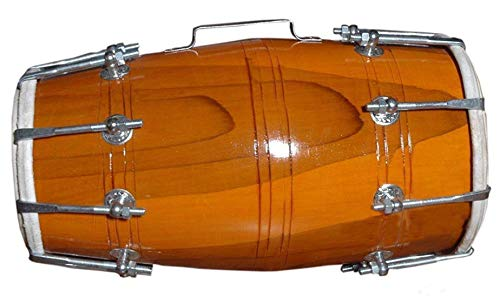 Makan Handmade Wood Dholak Nuts & Bolt Dhol/Dholak/Dholki Drum Indian Folk Musical Instrument With Carry Bag