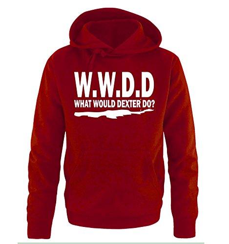 WHAT WOULD DEXTER DO - Herren Hoodie Rot / Weiss