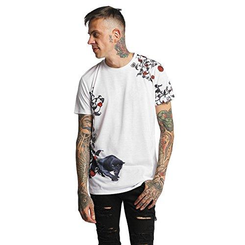 Criminal Damage Herren Oberteile / T-Shirt Panther Weiß