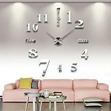 Asvert Moderne Einfache Grosse Wanduhr Geeignet Fr Wohnzimmer Kreativ Kunst Uhr DIY Persnlichkeit Mode Digitale