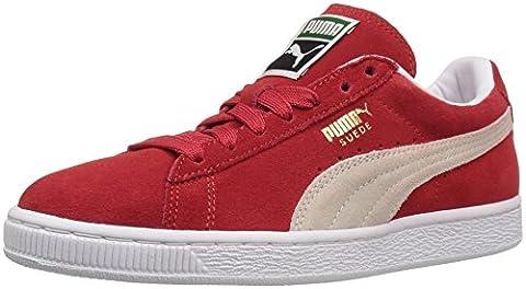 Puma Suede Classic, Chaussures de running pour homme noir noir - rouge - Rouge/Blanc,