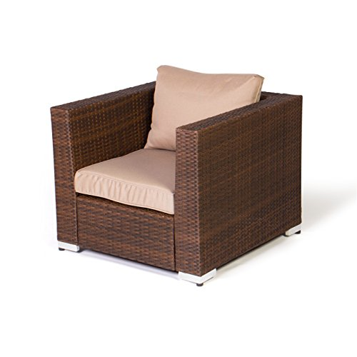 Vanage Gartengarnitur, Chill und Lounge Set Rom, braun - 3