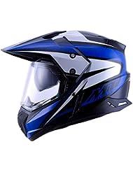 YYCC-helmet Casco da Cross per Adulti, Casco da Cross per 4 Stagioni, Casco da Fuoristrada da Corsa per Uomo,C,L
