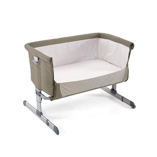 Chicco Next2me Side Sleeping Crib - Dove Grey Chicco Co-sleeping crib that promotes side-sleeping and allows you to sleep close to your child Can be used as a normal crib as baby grows.Open size: 66/81 x 93 x 69 Suitable from birth to 6 months/9 kg or until baby can pull themselves into an upright position 1