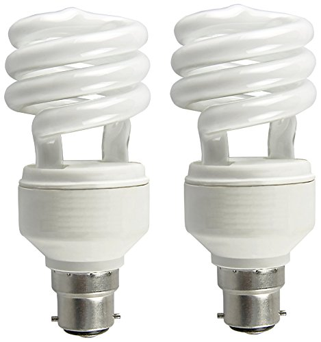 Osram 5 Watt mini Spiral  CFL Bulb B22d White (Pack of 2)  available at amazon for Rs.339