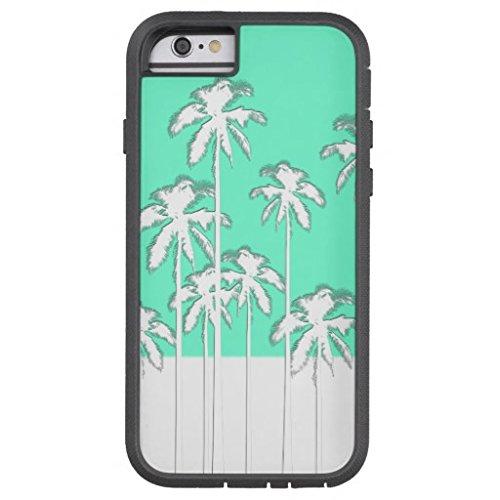 diebily Einzigartige Handy case-summer Aqua Teal weiß tropischen Palmen Tough Xtreme iPhone Fall, Telefon Fall, iPhone 6Plus
