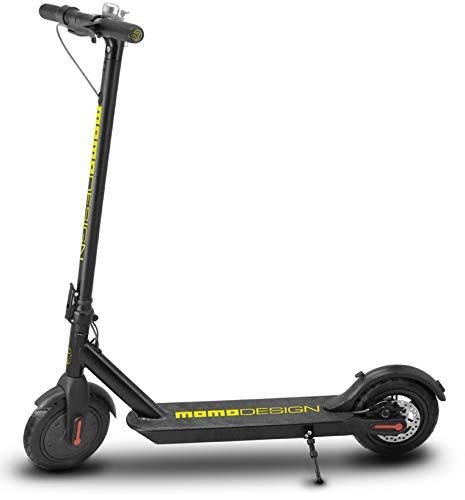 Momo Design Milan 85 Monopattino Elettrico, Velocità massima 25km/h con autonomia fino a 18km, Nero/Giallo