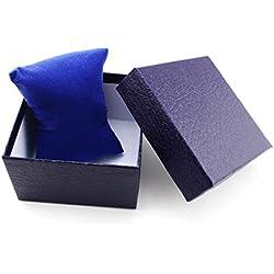 Tonsee 1pcs Geschenk Box Case für Armreif Armband Schmuck Uhr mit Schaumstoff Pad innen vorhanden,Blau
