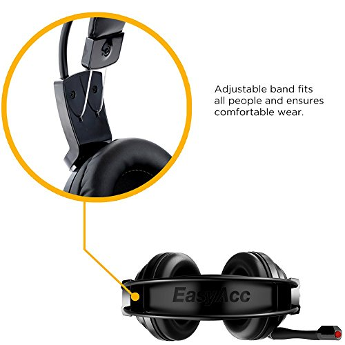 EasyAcc G1 Virtual 7.1 Surround-Sound Gaming Headset mit Vibrationsfunktion,USB PC,PS4 Gaming Kopfhörer - 5