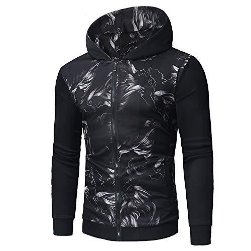 Top Zipper Hiver Imprimer À Automne Manteau Jutoo Longues Homme Hoodies Manches Veste WD9YEHI2