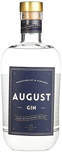 August Gin Premium London Dry Gin verfeinert mit Zirbelkiefer Handmade in Schwaben, 1er Pack  (1 x 0.7 l)