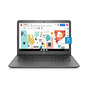 HP Chromebook 14-Inch Thin and Light Touchscreen Laptop (Intel N3350/4GB/64GB onboard + Additional Cloud storage/256GB Expandable/Chrome OS/Backlit/Chalkboard Grey/1.5kg), 14-ca002TU
