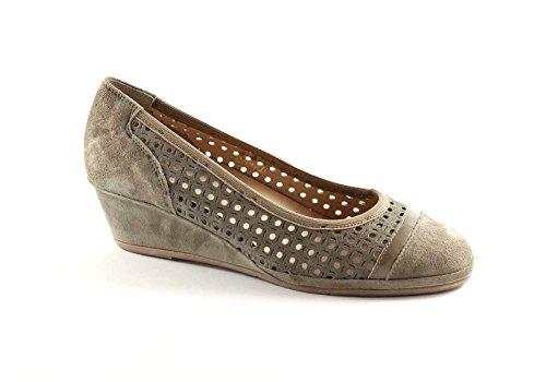 GRUNLAND RINA SC1702 taupe scarpe donna decolletè forato zeppa 41