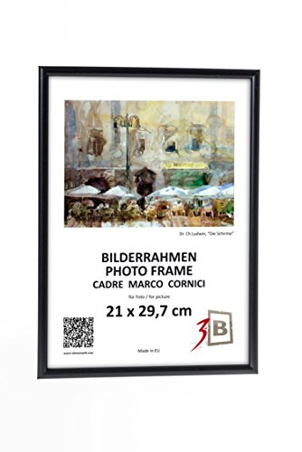 3B Conjunto de 2 piezas FOTO 21x29,7 cm A4 - negro de pl/ástico marcos de fotos