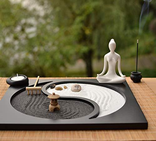 FENGMANG Estilo japonés de Madera artesanía Zen decoración de jardín Quemador de Incienso Mesa de Arena decoración del hogar artesanía