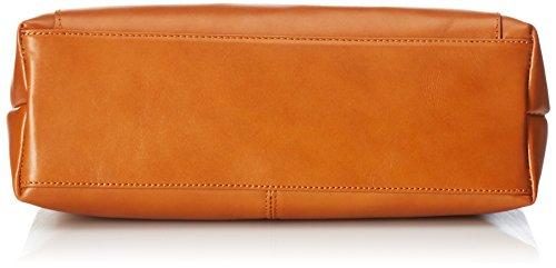 Borsa Donna Ctm A Mano, Borsa Da Scuola Donna, 32x24x13cm, Vera Pelle 100% Made In Italy Orange (cuoio)
