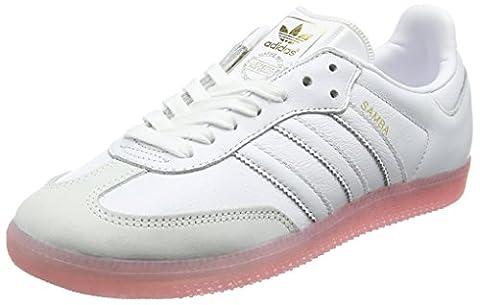 adidas Damen Samba Sneaker, Weiß (Footwear White/Footwear White/Easy Pink), 38 EU