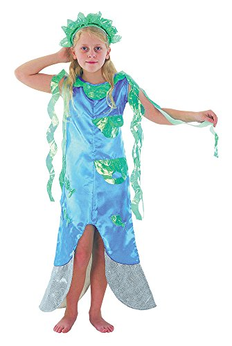 Bristol Novelty CC472 Meerjungfrau Kostüm, Grün