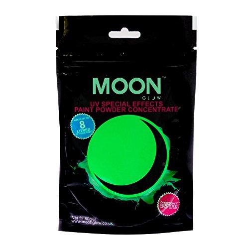 moon-glow-80g-uv-farbpuder-grun-party-puderkonzentrat-mit-neon-spezialeffekt-ergibt-bis-zu-8-liter